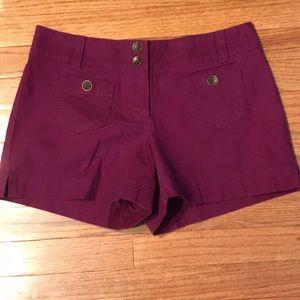 New York & Company Purple Shorts Sz 4
